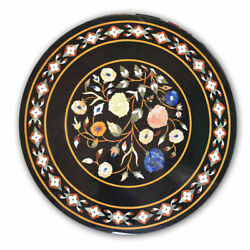 2and039x2and039 Table Marble Inlay Top Pietra Dura Home Garden Coffee Dining Decor B32