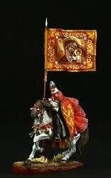 Tin Soldier Museum Top Russian Warrior With Religious Standard 54 Mm Russia