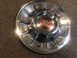 1957 Cadillac Hubcap Wheel Cover Oem, With Center Emblem 57