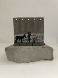 Banksy Walled Off Hotel Donkey Documents 5 Panel Wall With Coa Receipt