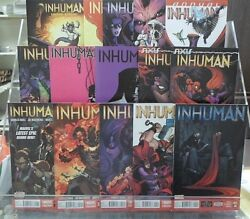 Marvel Now Inhuman Comic Set Run Lot 1-14 And Annual 1 Vf Condition