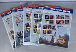 Usps Celebrate The Century Stamp Sets 1940-1980. 5 Sealed Unused Collectible