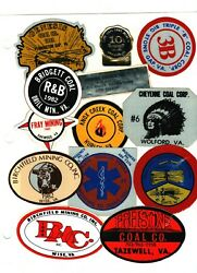 Lot Of 35 All Are Southeast Virginia Coal Co's Coal Mining Stickers 1074
