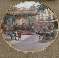 Franklin Mint Carousel Enchantment Sandi Lebron Collector Plate Limited Edition