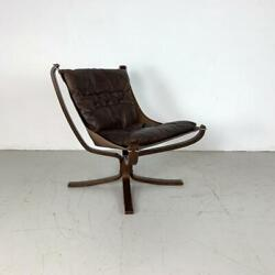 Danish Falcon Chair Sigurd Resell Ressell Retro 60s 70s Midcentury Brown 3231