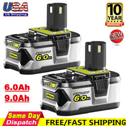 6.0ah For Ryobi P108 18v 18 Volt One+ Plus High Capacity Lithium-ion Battery New