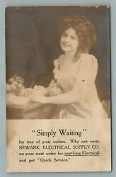 Newark Nj Electrical Supply Co. Advertising Antique Real Photo Postcard Rppc