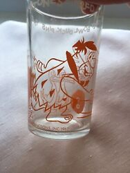 Flintstones Welchandrsquos Jelly Glass Fred And Barney Bowl Duck Pins Pebbles On Bottom
