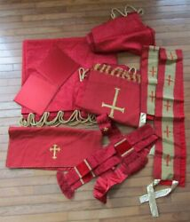 Lot Of 10 Greek Orthodox Church Vestments Altar Covers Theodore Cuthbertson