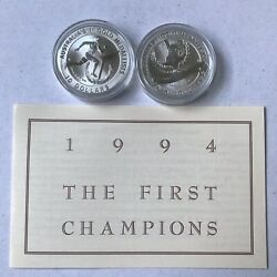 1994 10 The First Champions Edwin Flack And Sarah Durack Silver Coin Set