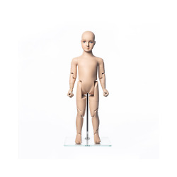 Realistic Fiberglass 3 Year Old Kids Fleshtone Mannequin With Flexible Joints