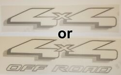 Pair 4x4 Or 4x4 Off Road Decals For 1997- 1999 Ford F150 Other Makes Top Quality