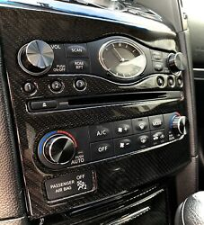 New Style Smooth Black Radio And A/c Knobs For Infiniti G37 Qx70 Fx Ex And More