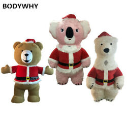 2m/2.6m/3m Teddy Polar Bear Mascot Costume Suits Cosplay Outfits Promotion