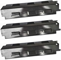 Hongso 14 5/8and039and039 X 4 1/4and039and039 Gas Grill Heat Plate Shield Burner Covers 3-pack