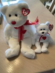 Valentino Bears - Ty Beanie Baby - Brown Nose - Rare Collection