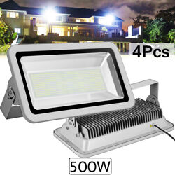 4x 500w Led Flood Light Cool White Camping Outdoor Lighting Security Wall Lamp