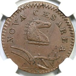 1786 23-r Ngc Xf 45 Curved Beam New Jersey Colonial Copper Coin