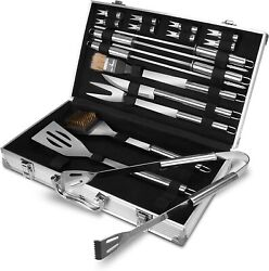 Bbq Tools Barbecue Grill Tool Set Kit 38pcs Stainless Steel With Aluminum Case