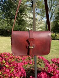 Vintage Dooney And Bourke Bridle Leather Equestrian Tack Bag Crossbody Green Tag $45.00