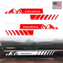 Toyota Tacoma Mountain Trd Side Door Decals Vinyl Off Road Sport Stickers D3