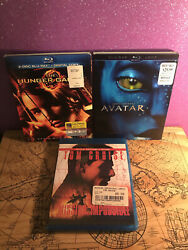 Blu-ray Lot Of 3 - Avatar, Hunger Games, Mission Impossible - Preowned