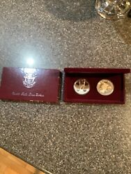 1983 S 1984 S Proof Olympic Silver Dollar 2 Coin Us Mint Commemorative Set