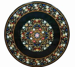 2and039x2and039 Table Marble Inlay Top Pietra Dura Home Antique Coffee Dining Decor B104