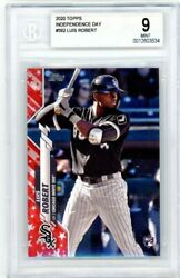 2020 Topps Series 2 Luis Robert Independence Day Rookie Rc /76 Bgs 9 White Sox