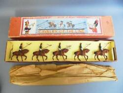 Vintage Lead Soldiers Cavalry Of The Line -original Box John Hill And Co. Johillco