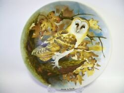 Coalport Limited Edition Collectors Plate. 'wise Owl' Series -'barn Owl'