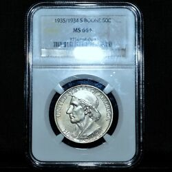 1935/1934-s Boone Commemorative 50c ✪ Ngc Ms-66+ ✪ Plus Uncirculated 34◢trusted◣