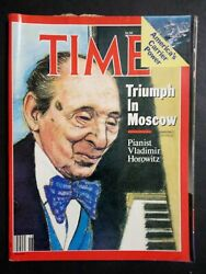Time Magazine 1986 May 5 Triumph In Moscow Pianist Vladimir Horowitz
