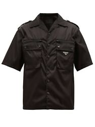 Prada Nylon Shirt In Black Military/utilitarian Style - Sold Out And Bnwt 1300