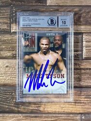 🔥🔥2020 Leaf Boxing Special Edition Mike Tyson Signed Bgs Bas 10 Auto Pop1 🔥🔥