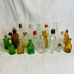 Lot Of 21 Vintage Bottles Medicine Vodka Pitchers Green Brown Clear Chief Wahoo