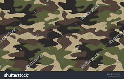 Camouflage Pattern Ceramic Tile Sho9 Reverse Dot Mural 3x6 Ft And 4x8