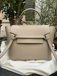 Celine Micro Belt Bag In Grained Calfskin Light Taupe Excellent Condition