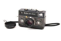 Mint- Rollei 35 Classic Made In Germany Titanium W/ Sonnar 40mm F/2.8 Hft Lens