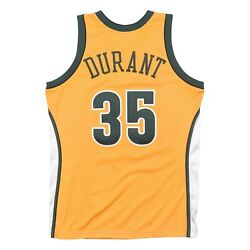 Mitchell Ness Seattle Supersonics 2007-08 Kevin Durant Authentic Yellow Jersey