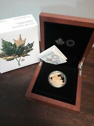 2021 20 Fine Silver Coin - Iconic Maple Leaf 🍁25privy Gold Plated Masters Club
