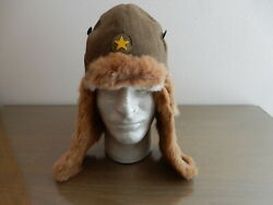 Original Ww2 Imperial Japanese Cold Weather Fur Hat / Museum Quality / Mint