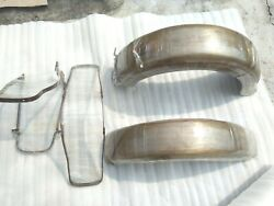 Brand New Harley Devidson Sivil Model Front And Rear Mudguard With Stays Repro