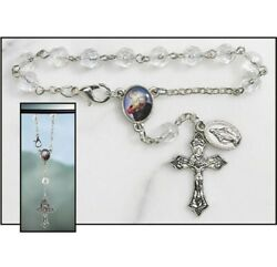 St Christopher Auto Rosary Car Rear View Mirror One Decade Rosary New