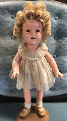 Ideal 1934 18 Shirley Temple Composition Doll Original Clothing Jwst93