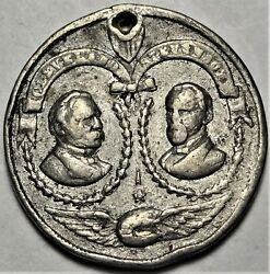 1892 Cleveland And Stevenson Political Campaign Token Medal Unlisted Lead 29mm