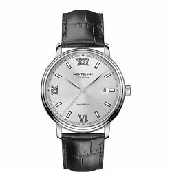 Man Wrist Watch Tradition 127769 Automatic Date Steel In Black Leather