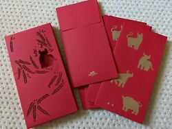 New Hermes Paris Chinese New Year 2021 Year Of The Ox Red Envelopes Set Of 10