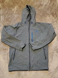 The North Face Hyvent 2.5L Lightweight Jacket grey blue Mens Medium hoodie $31.99