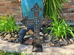 Iron Cross, Standing, Home Decor, Ornaments, Tabletop Decorations, Christian New